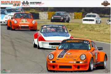 Freddie de Kock (Porsche 911 RSR) and Philip Pantazis (Datsun IMSA 260Z) in tow